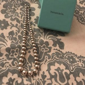 Authentic Tiffany & Co. graduated bead necklace